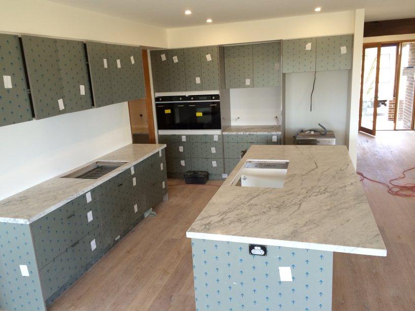 caesarstone kitchen island